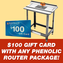Gift Card with Any Phenolic Router Package