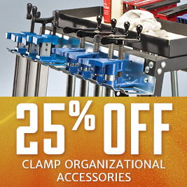 25% Off Clamp Organizational Accessories