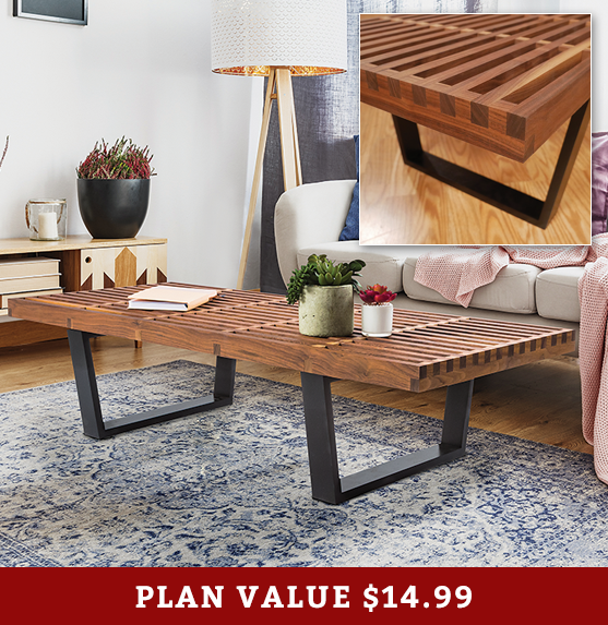 DIY Coffee Table Plan - Build with Rockler on Coffee Table Plans  id=37546