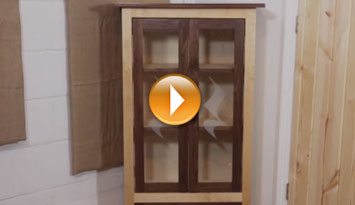 Laser Tutorial: Corner Cabinet w/Etched Glass Doors