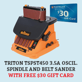 Free Gift Card With This Triton Spindle And Belt Sander