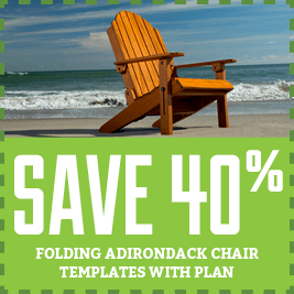 Folding Adirondack Chair Template with Plan