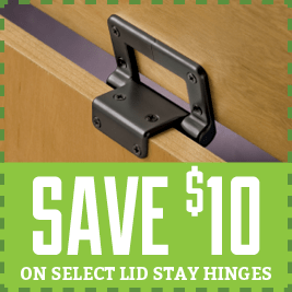select lid stay hinges