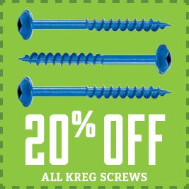 Save on Kreg Screws