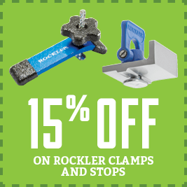 Save on Rockler Clamps and Stops