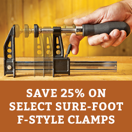 Save on Select Sure-foot f-style clamps