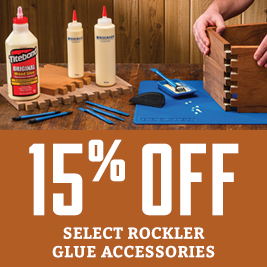 15% Off Select Rockler Glue Accessories
