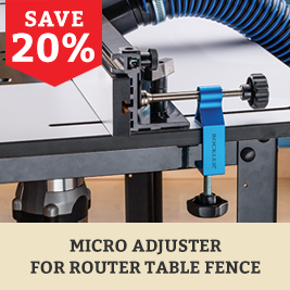Router Table Micro Adjuster