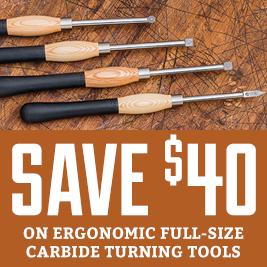Full size carbide turning tools