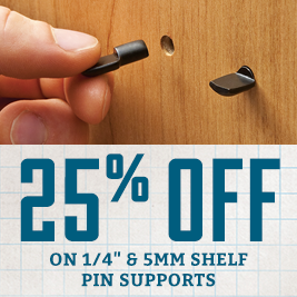 25% off Shelf Pin Supports