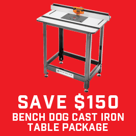 Save $100 on cast iron Table Packages