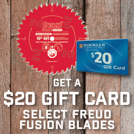 Get a $20 Gift Card with Select Freud Fusion Blades