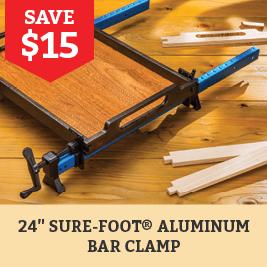 Save $15 on Aluminum Bar Clamp