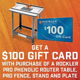 $100 gift card with router table