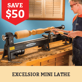 Save $50 on the Excelsior Lathe