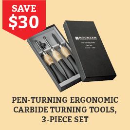 Save $30 on 3 pc Carbide Pen Turn Tool Set