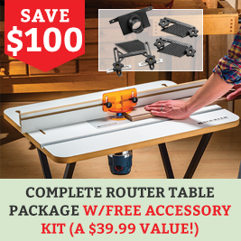 SAve on this Complete Basic Router Kit