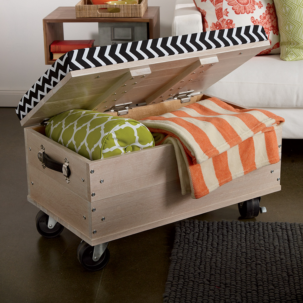 ... Remarkable Captivating Diy Storage Ottoman Best Images About Storage  Ottomans On Pinterest Ottomans · Assembling ...