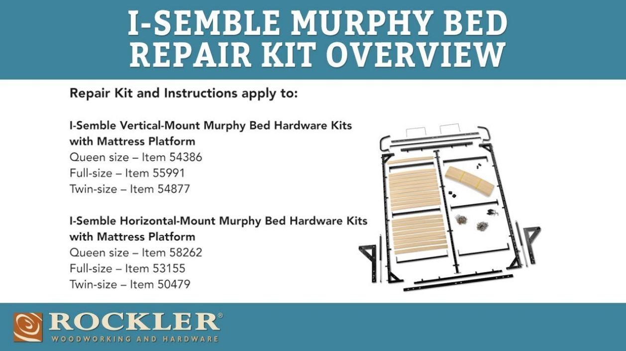 I-Semble Murphy Bed Repair Kit Overview