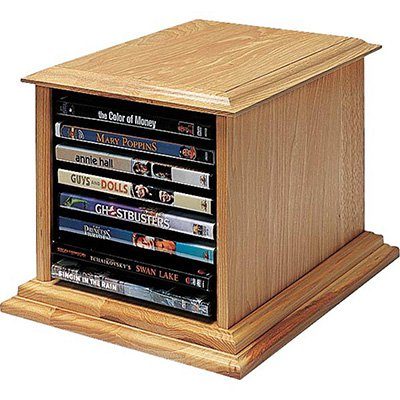 Customize your media storage by building a cd/dvd tower using this free tower plan