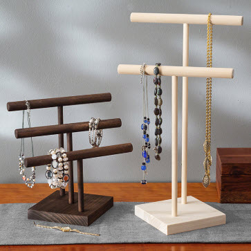 Wooden Jewelry Tree Stand