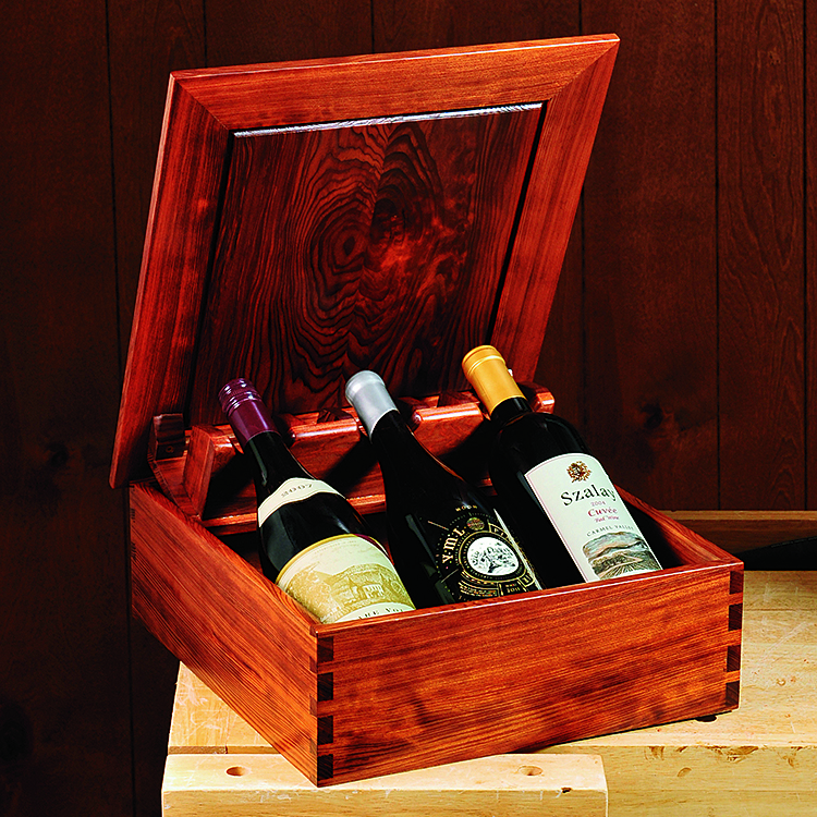 Build your own wine presentation box using this free plan