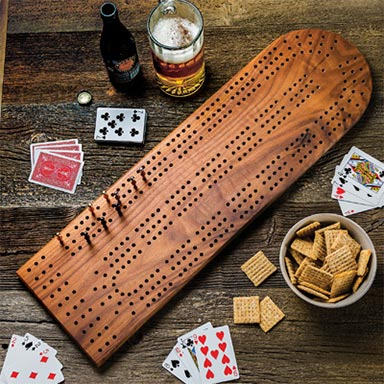 Build your own XL cribbage board using this free plan