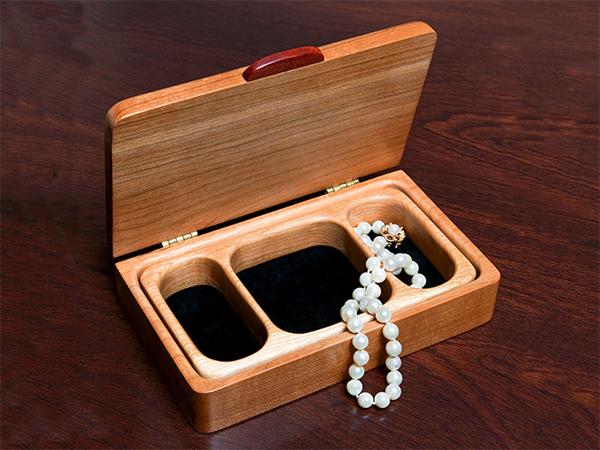 finished cherry jewelry box