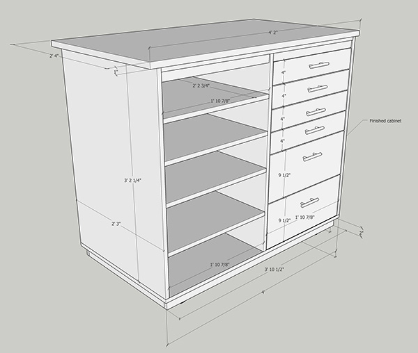 cabinet project illustration