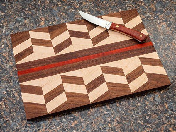 geometric piece cutting board