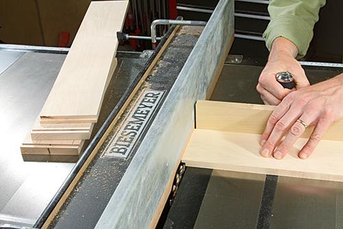cutting drawer parts