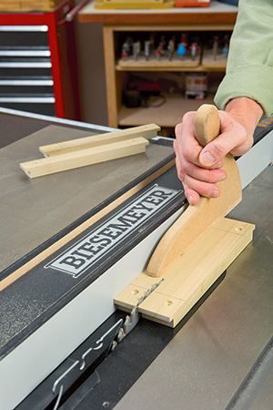 cutting top fasteners on table saw