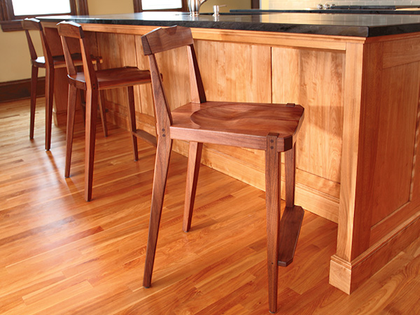 tall kitchen stool with back