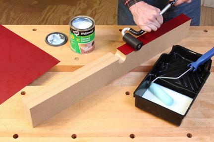 Flattening laminate on plywood edge