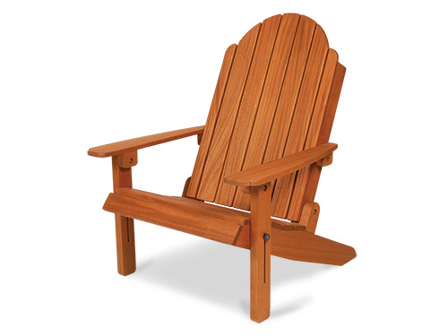 African mahogany adirondack chair