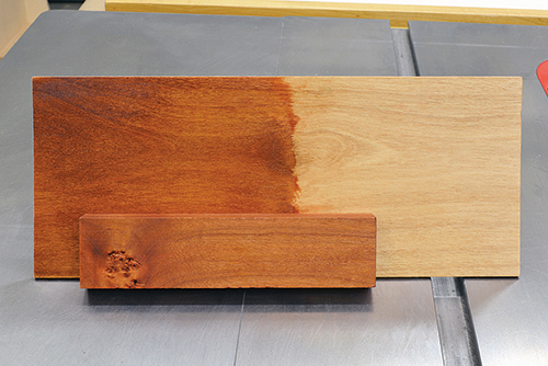 Adding a pigment stain to alder to make it look like cherry