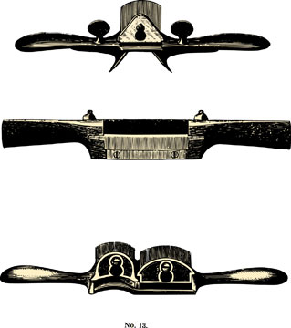 Engraved antique spokeshave examples