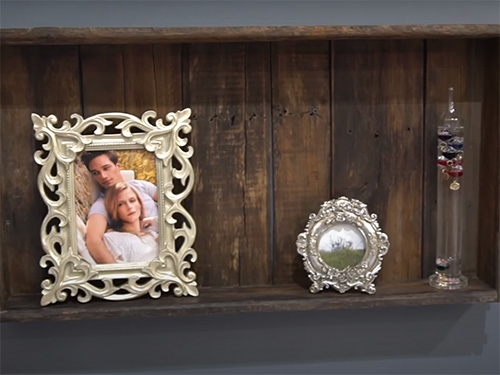 Antique apple crates turned into expressive wall art