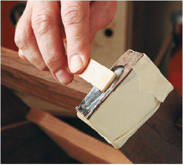 applying epoxy to wood