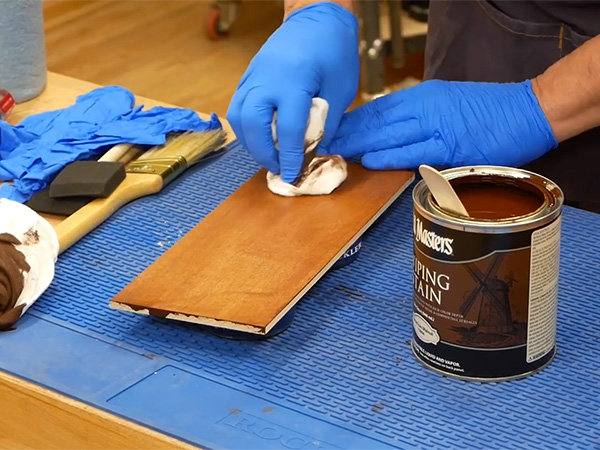Applying Old Masters wiping stain