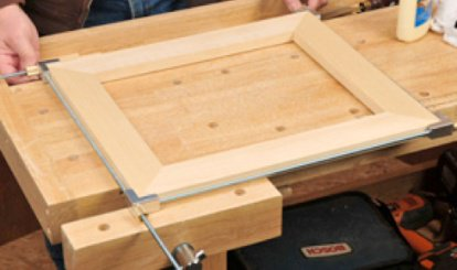 Assembled miter joinery