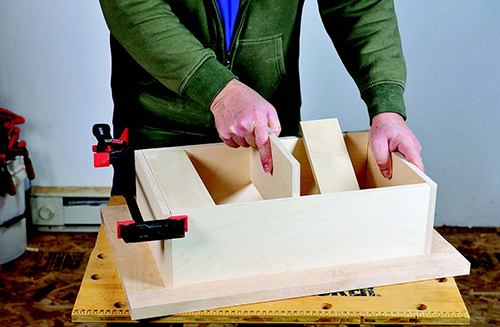 Adding shelving to small tool cabinet cubby
