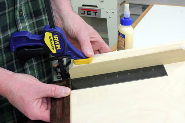 Adding a scrap fence to angle drilling jig