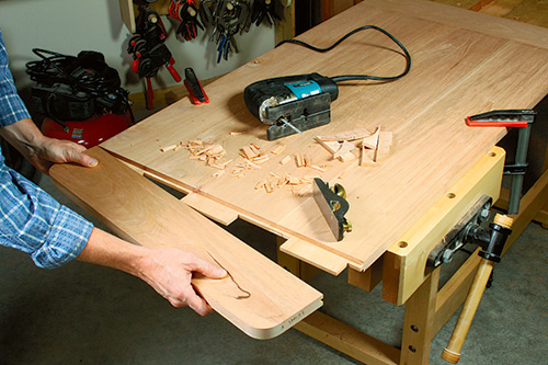 Attaching breadboard ends to outdoor storage box lid