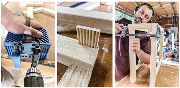 assembling table with beadlock tenons