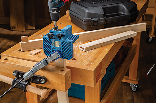 Clamping beadlock pro to workbench to make cut on end of blank