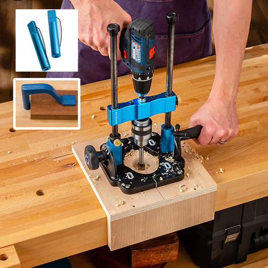 drilling bench dog holes