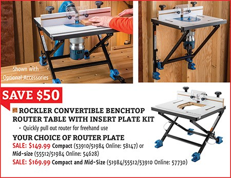convertible benchtop router table
