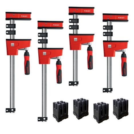 Bessey revolution parallel clamp framing kit with blocks