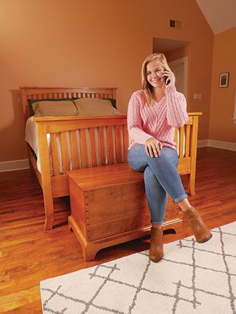 Cherry wood bedroom set